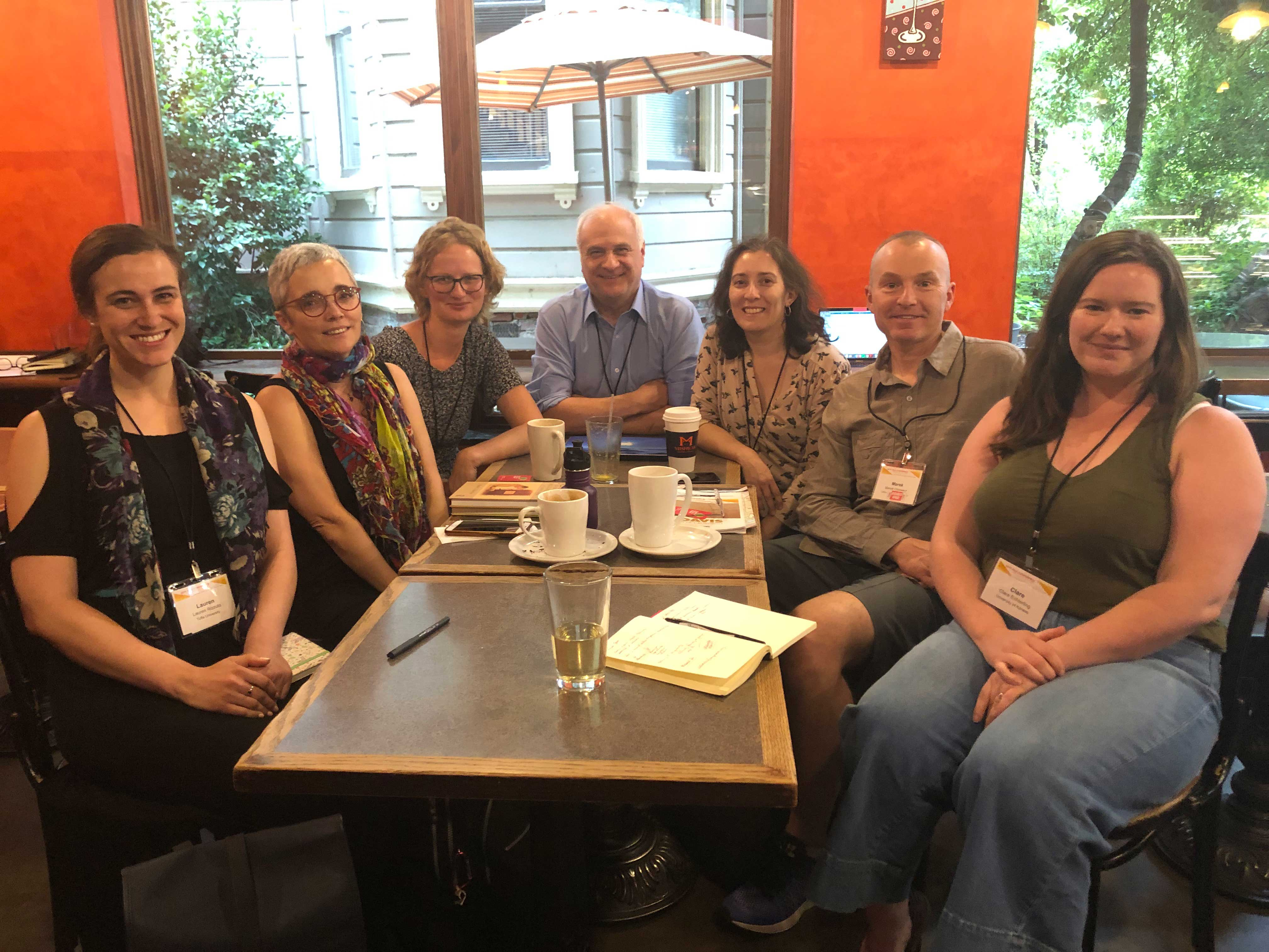 Members of the ASLE group have a meeting.