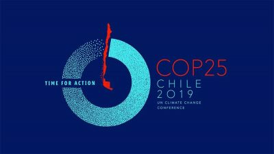 Mark Terry Speaks at United Nations Framework Convention on Climate Change (COP25) @ Parque Bicentenario Cerrillos in Santiago de Chile, Chile