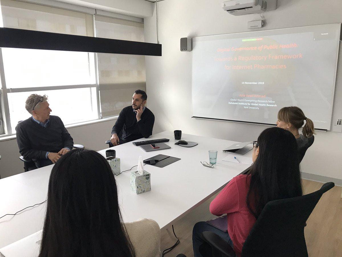 Seminar at Dahdaleh Institute