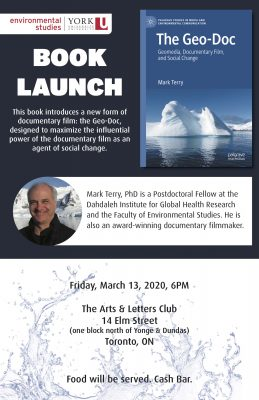Book Launch | The Geo-Doc: Geomedia, Documentary Film, and Social Change @ Arts & Letters Club