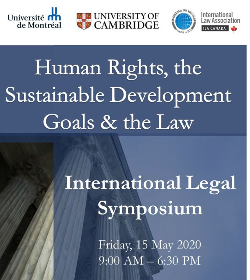 Human Rights, the Sustainable Development Goals & the Law: International Legal Symposium