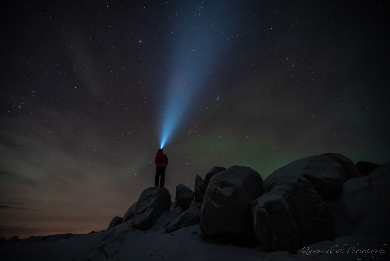 Northern Canada night light