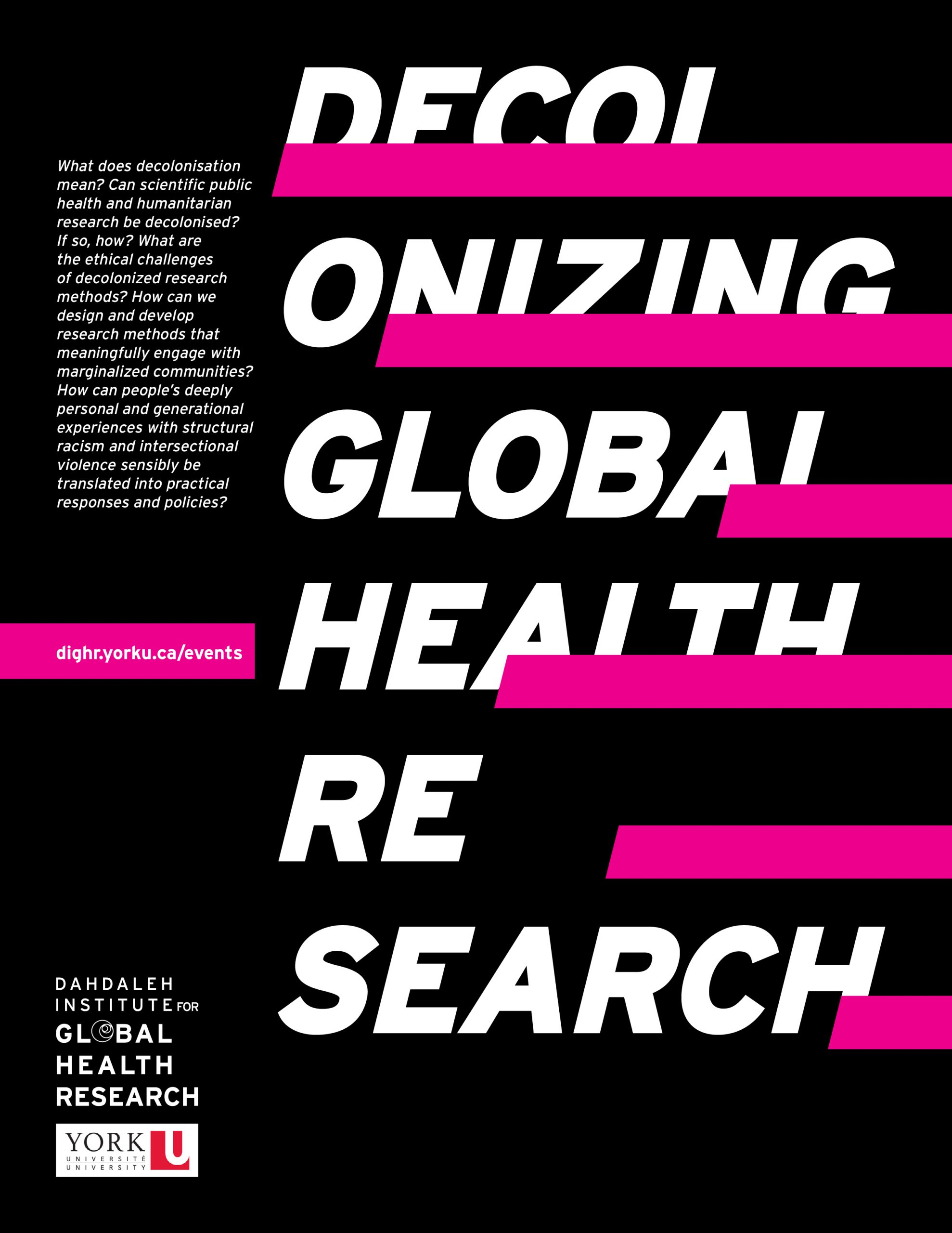 Decolonizing Global Health Research Poster
