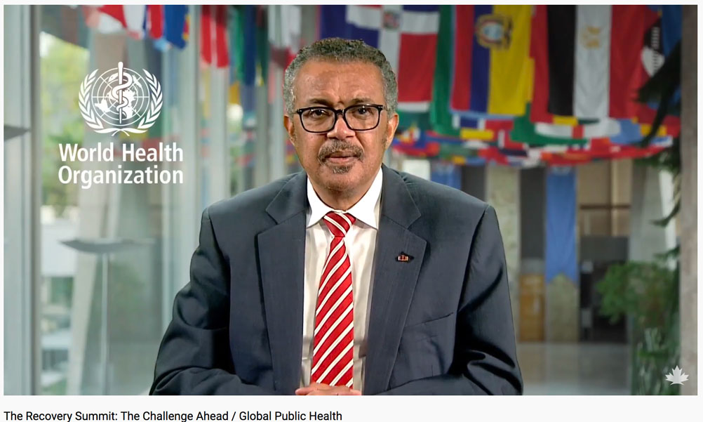 Tedros Ghebreyesus at The Recovery Summit
