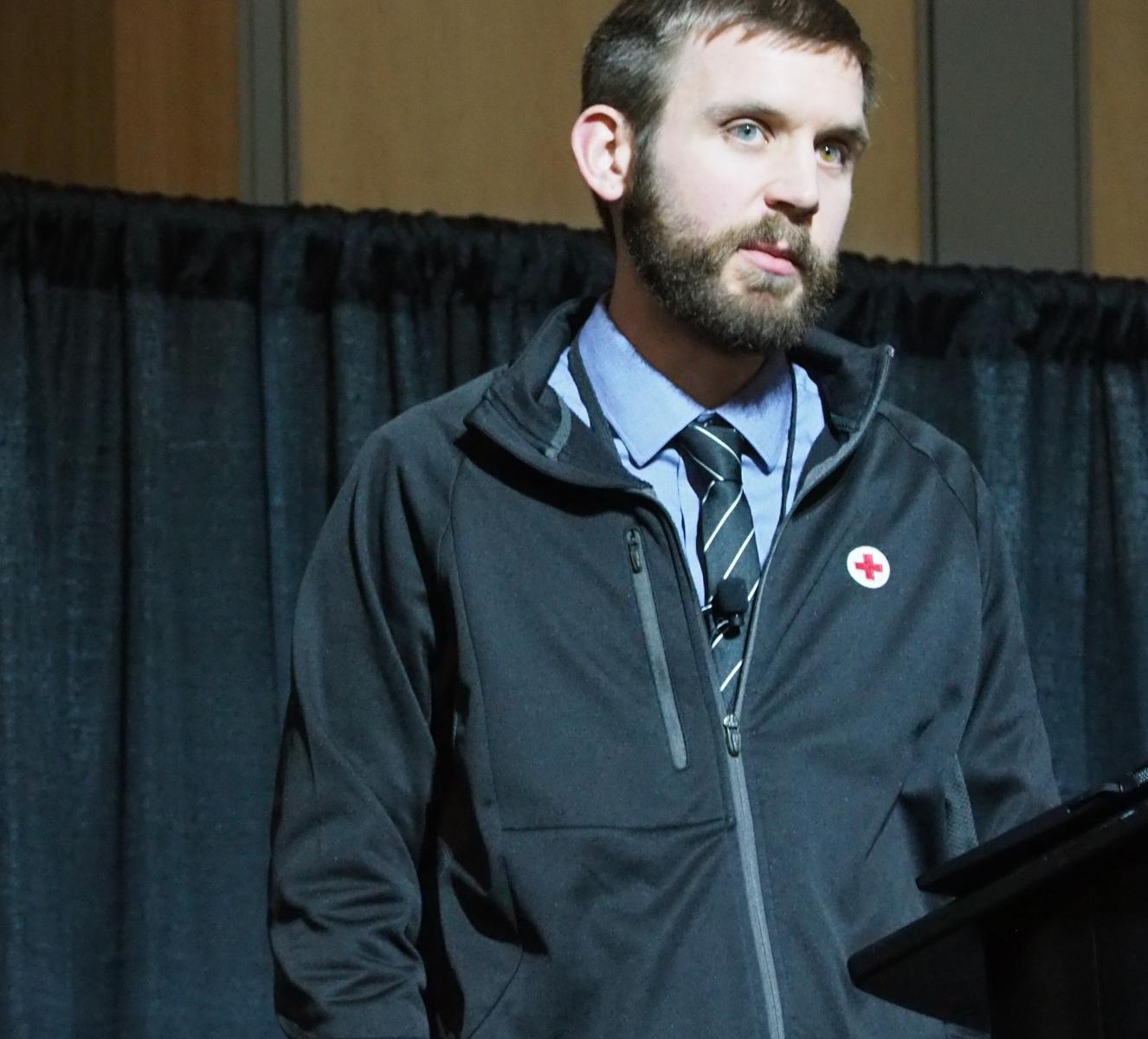 Dan Joseph, American Red Cross, presents the IFRC Go Platform.