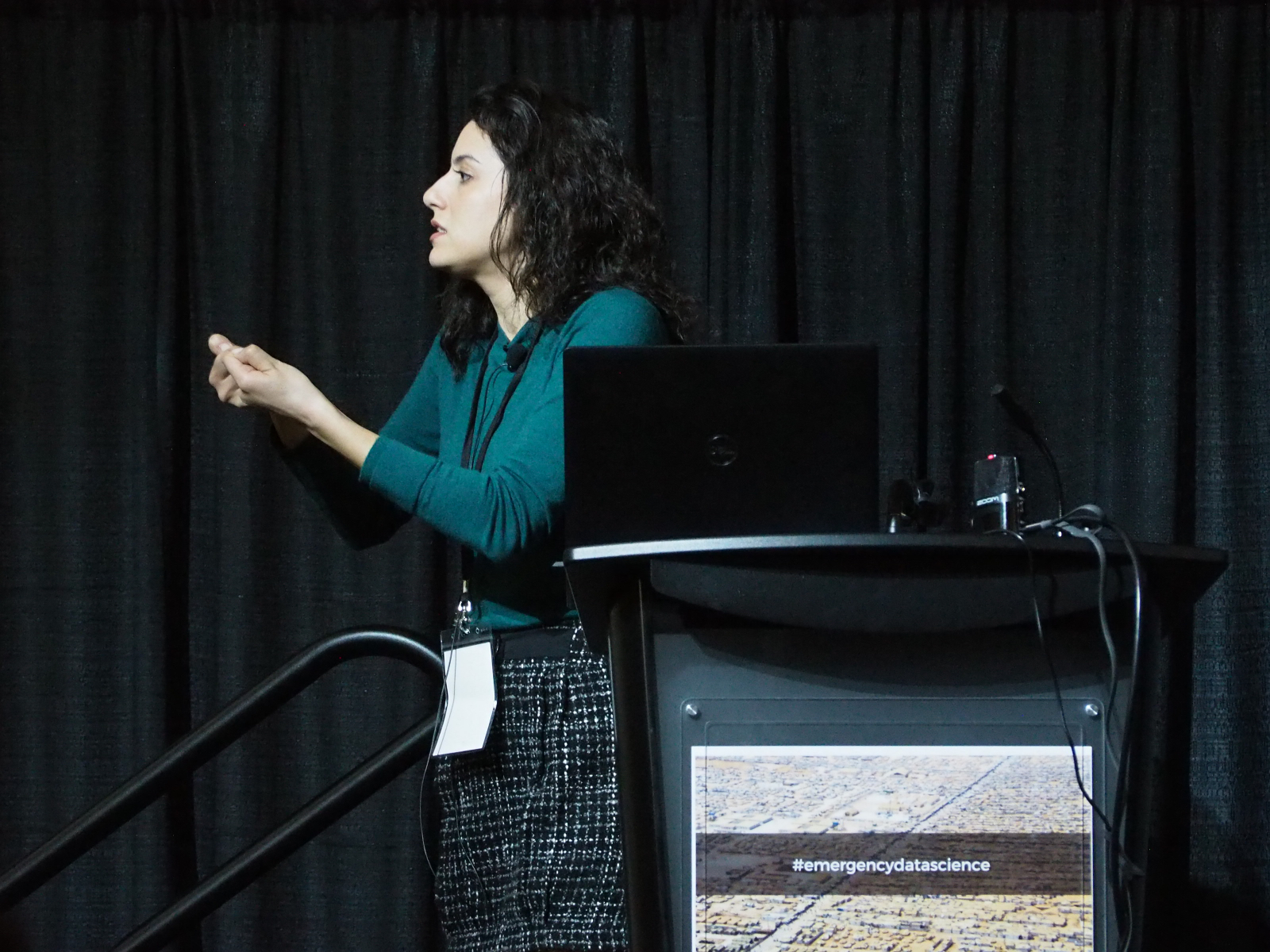 Jana Daher, Action Contre la Faim, presents the Global Nutrition Dashboard challenge.